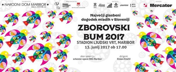 Posnetek Zborovskega BUM-a 2017 na TV Slovenija 2 v soboto, 1. julija, ob 10. uri